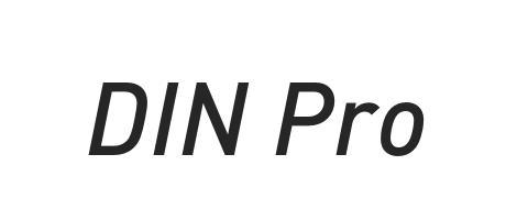 din pro condensed font free download
